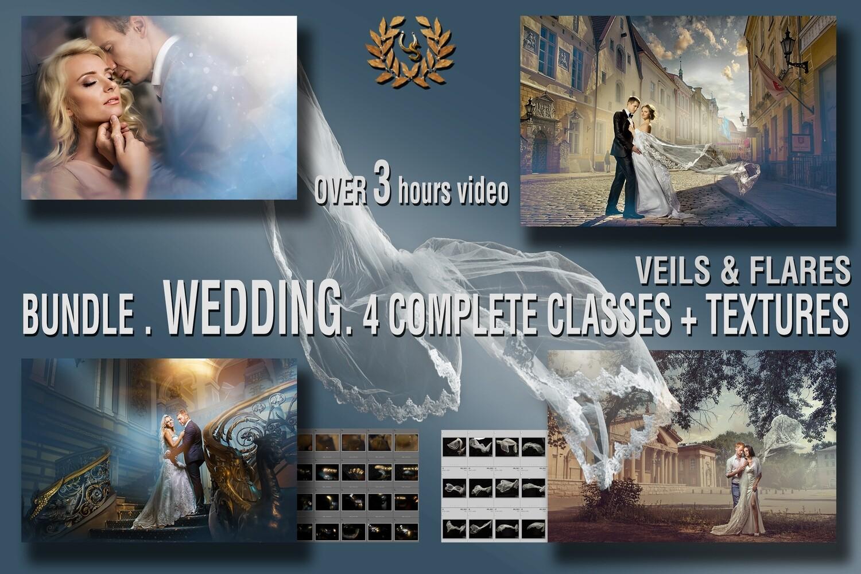 "BUNDLE  ""WEDDING"". 4 WEDDING PHOTO EDITING CLASSES + TEXTURES"