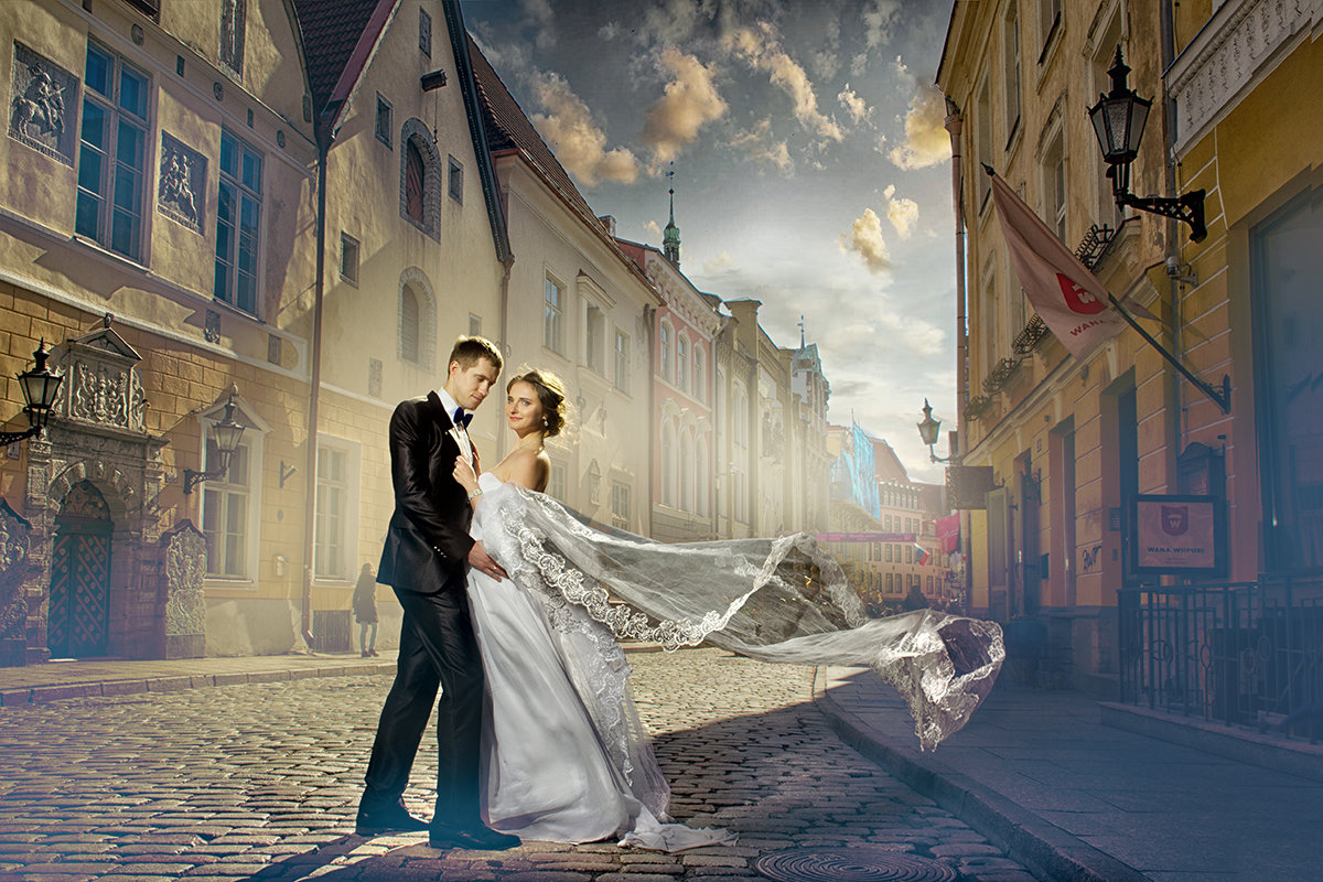 """Video_lesson """"How to add a wedding veil on the picture"""""""