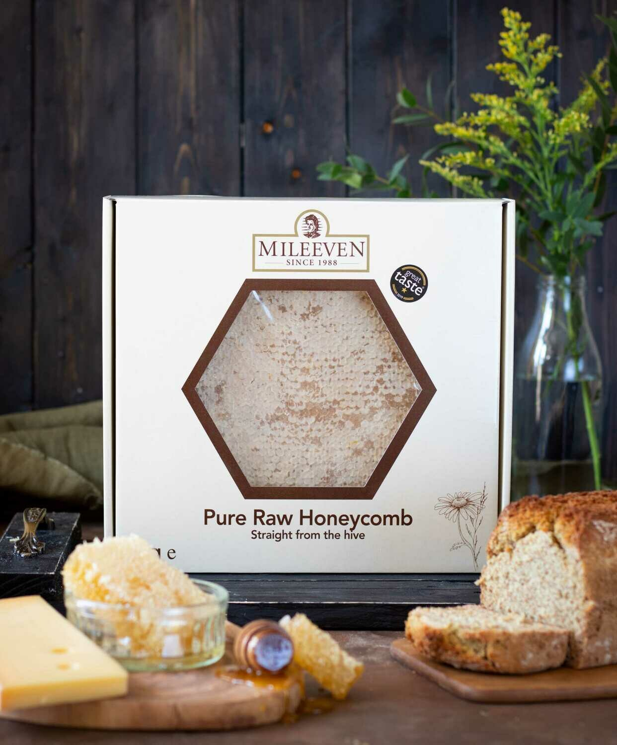 Exclusive to the Online Shop! Mileeven 1Kg Pure, Raw Honeycomb, Straight from the Hive