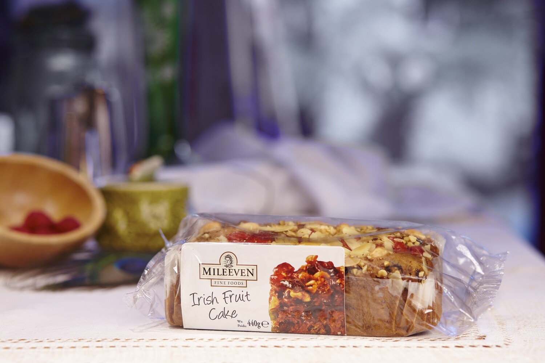 Mileeven Irish Fruit Cake - Decorated with Almonds & Cherries