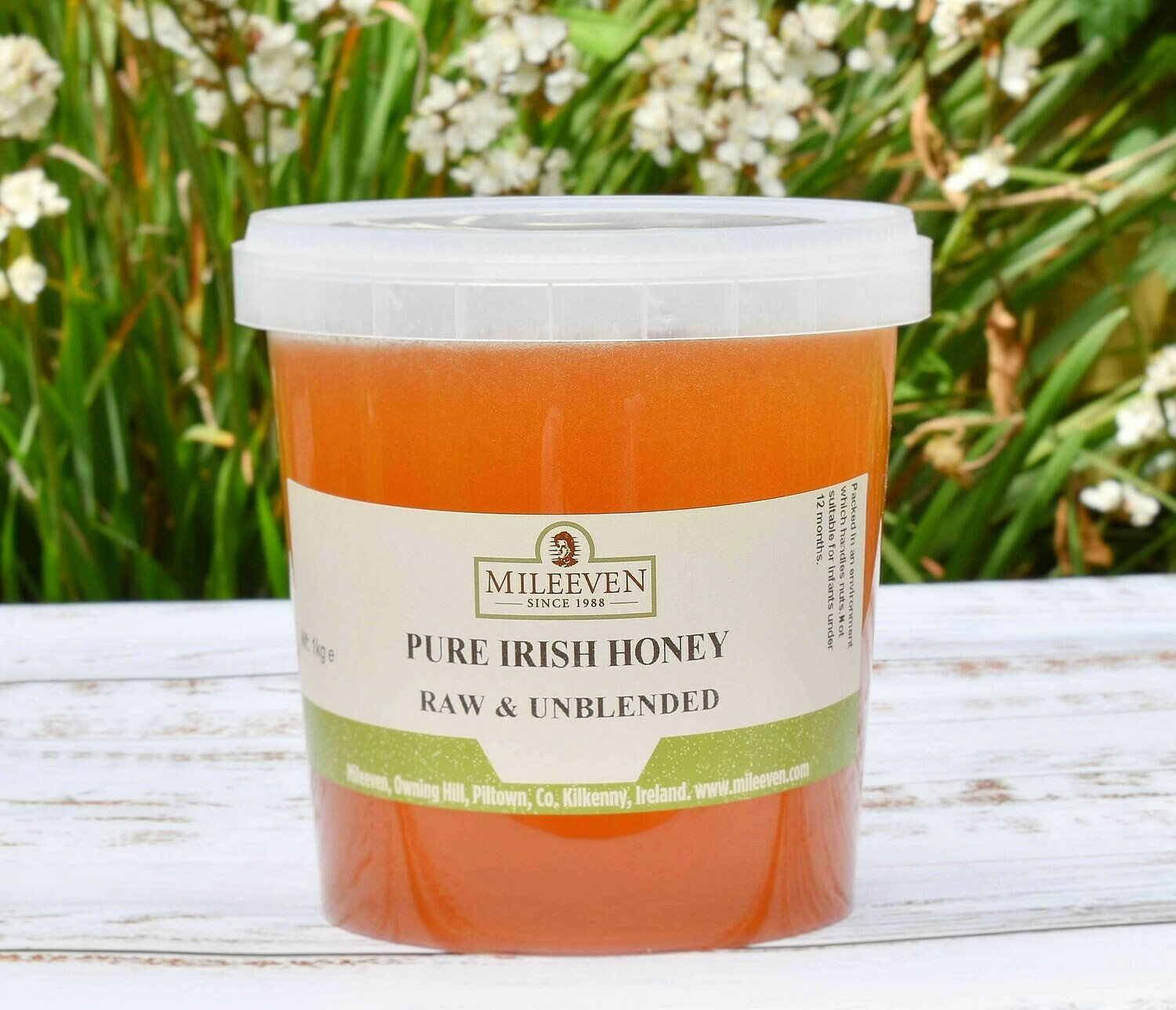 Mileeven 1kg Pure Irish Honey, Raw & Unblended