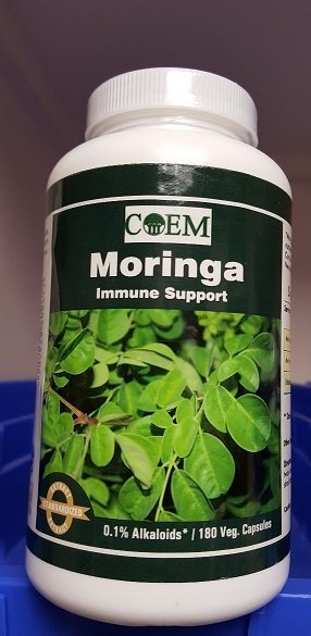 MORINGA 500 MG Standardized .1 % Alkaloids 180 Caps