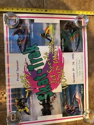 1993 Skat-Trak Jet Sports World Finals Poster