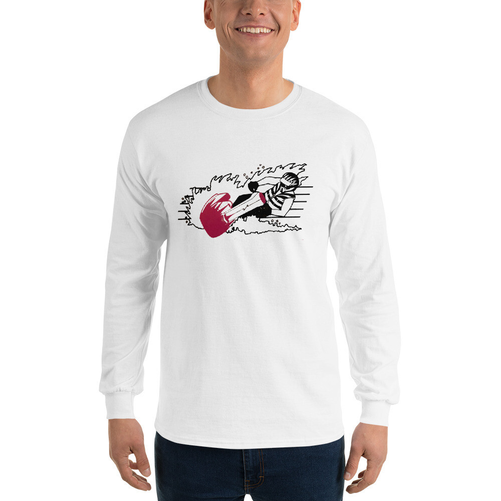 Action Jet Skier Men's Long Sleeve Shirt