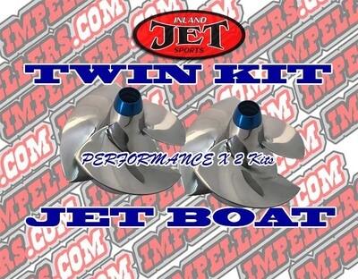 Pro 2x Impellers kit Sea Doo Boat Speedster 650 1994-95 Twin Engine