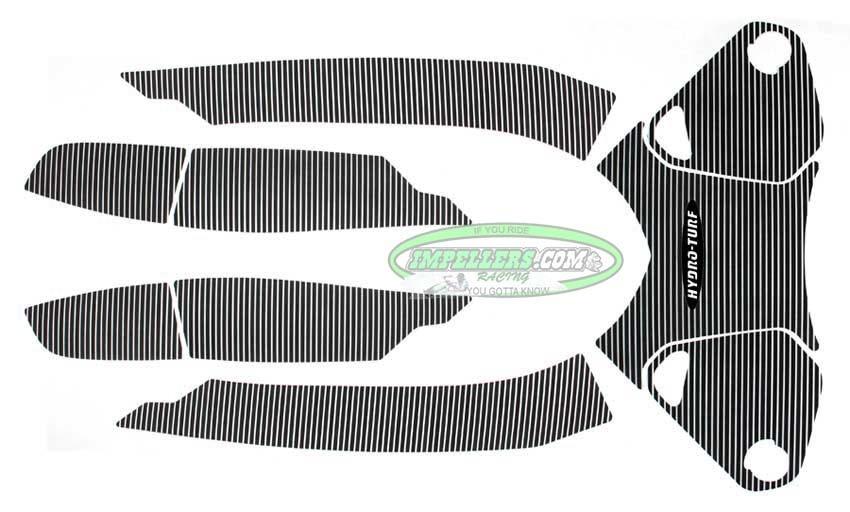 Hydro Turf Pad Sea Doo RXT-X 10-11RXT-X 260 12-16 Wake Pro 215 12-16 Mat black 7 piece