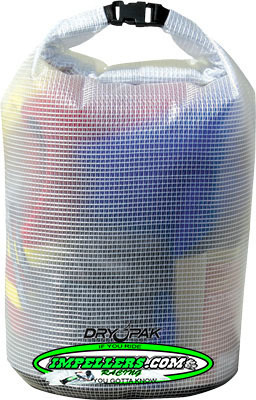KWIK TEK ROLL TOP DRY BAG CLEAR 11-1/2X19