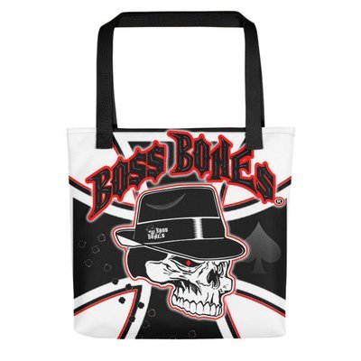 BossBones Iron Cross Tote bag