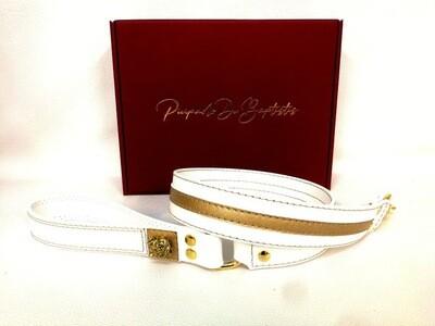 White/Gold Leash 100 cm