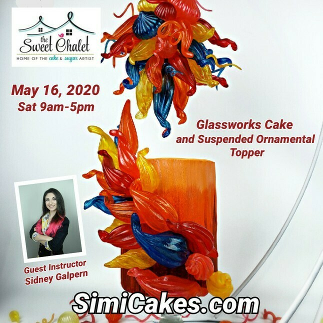 Isomalt GlassWorks Cake & Topper Class NEW DATE JUNE 27th & 28th 2020. Two sessions. One seat available.