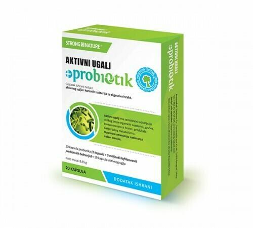 Strong Nature Aktivni ugalj + probiotik 10 +10