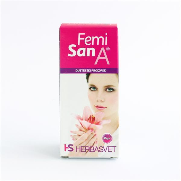Femisan A -biljne kapi 30 ml