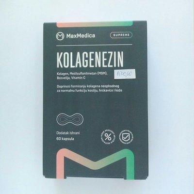 Kolagenezin (kolagen, MSM, Bosvelija, vit C) 60 kps