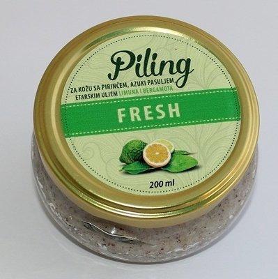 Herbateria - Piling za kožu fresh - sa pirinčem, azuki pasuljem i etarskim uljem limuna i bergamota