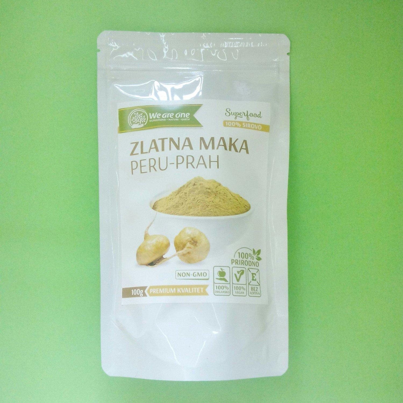 WAO Zlatna maka (organska, sirova) - prah 100 g