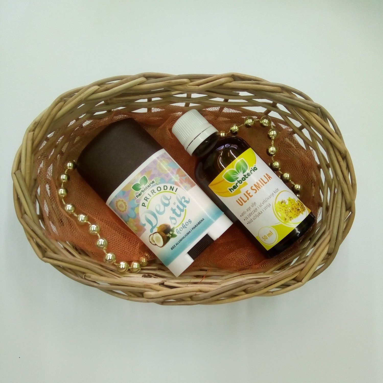 Poklon set (deo stik, ulje smilja 50 ml)