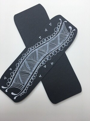 Black Bookmarks 2 x 6