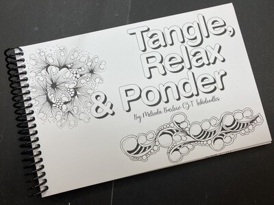 E-Book Downloadable Art Journal, Tangle Relax and Ponder