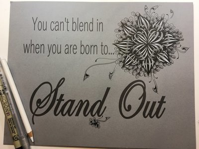 You can't blend in when you are born to stand out Template