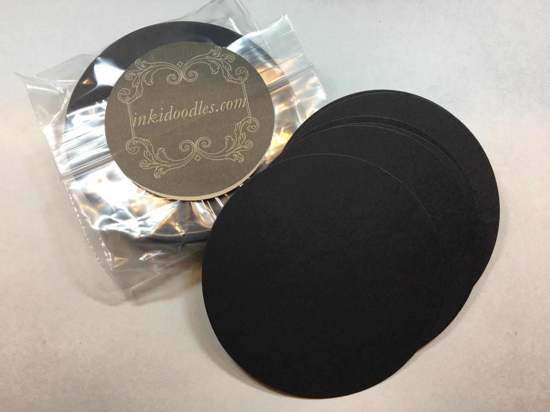 "30-Black Round 3 1/2"" tiles"