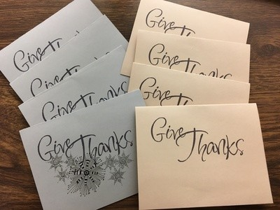 Give Thanks Note Card Template