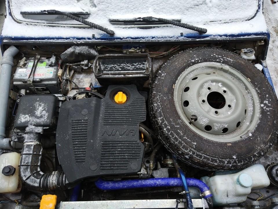 """Крышка (экран) двигателя. Защита и в бездорожье, и классная """"Тюняшка"""".  для """"Лада 4х4"""" & """"Шевроле Нива"""""""