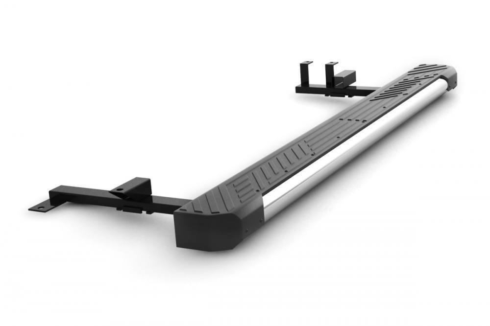 Защита порогов  с пластиковой площадкой на всю длину (Ø 63 мм)