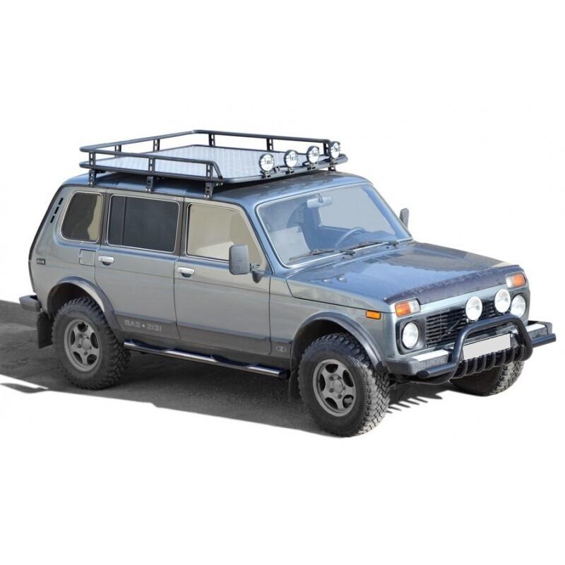 Багажник экспедиционный «Трофи» с алюминиевым листом без передней перекладины URBAN 2131  и  2131 Нивa