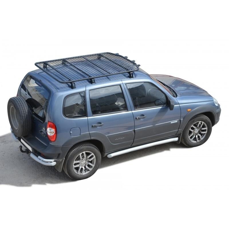 Багажник - платформа экспедиционный «Трофи» с сеткой, 2123 «Шеви»