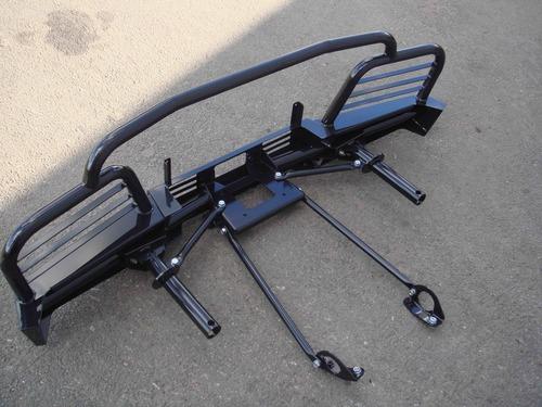 Силовой передний бампер с площадкой для лебедки с защитными дугами