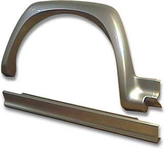 Накладки арок колес и порогов Ф02 для трёхдверки (комплект)