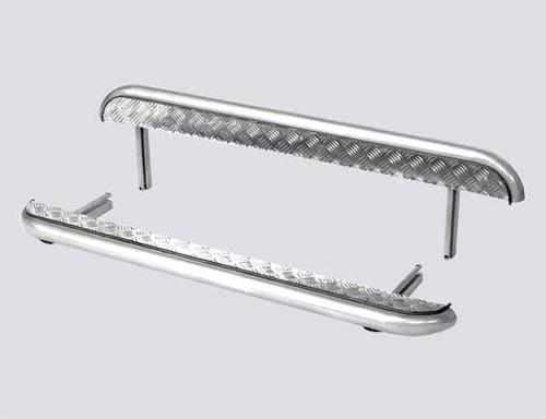 Пороги с алюминиевым листом, Диаметр трубы 51мм (комплект)