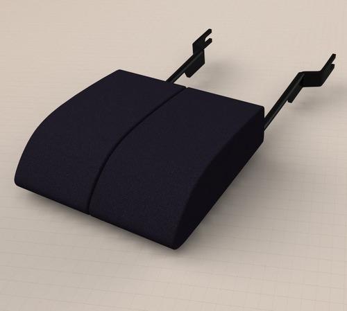 Подлокотники Нива (черная ткань). МягкоПрочные. УдобноШирокие