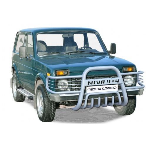 Дуга передняя «Нива 4х4 с ушами» с дополнительной защитой двигателя Диаметр=63,5   21214-31 «Нива»