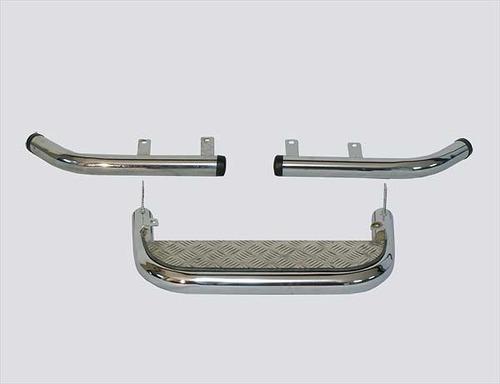 Подножка задняя с алюминиевым листом и защитой заднего бампера «Уголки» , 2123 «Шеви»