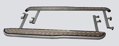 Пороги с алюминиевым листом с перегибом, 2123 «Шеви» RS