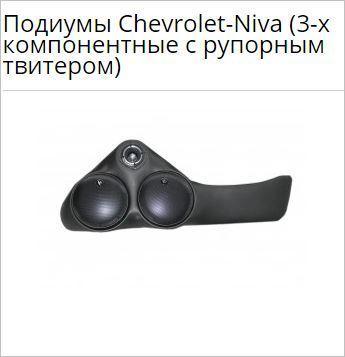Подиумы Chevrolet Niva (3-х компонентные с рупорным твитером)