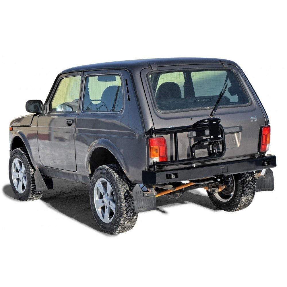 """Бампер задний силовой с Кронштейном запасного колеса """"Lada 4x4"""""""