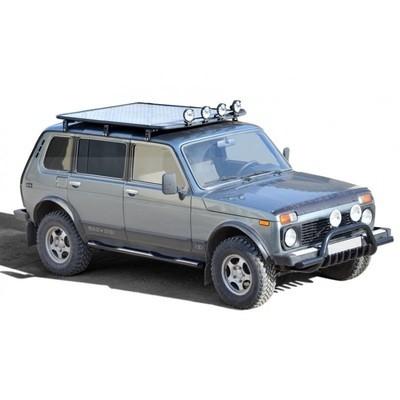 Багажник - платформа экспедиционная «Трофи»  (сетка / алюминиевый лист) 5 дверная Нива