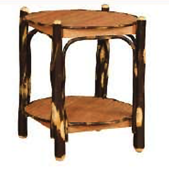 2 Tier Round Table (Oak and Hickory)