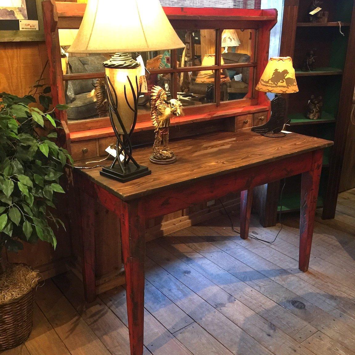 Locally made Fresco Table & Mirror