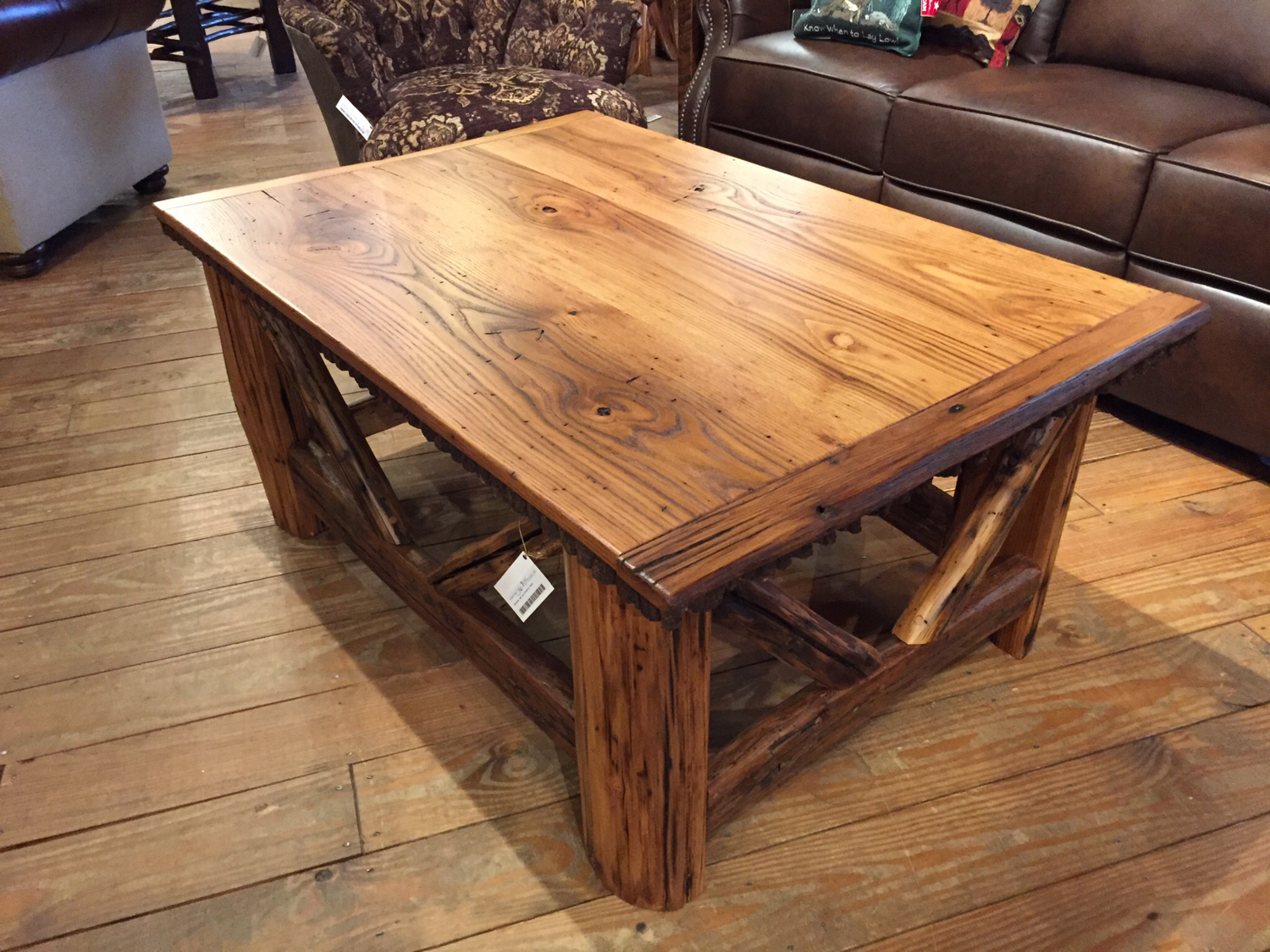 Chestnut and Log Cocktail Table