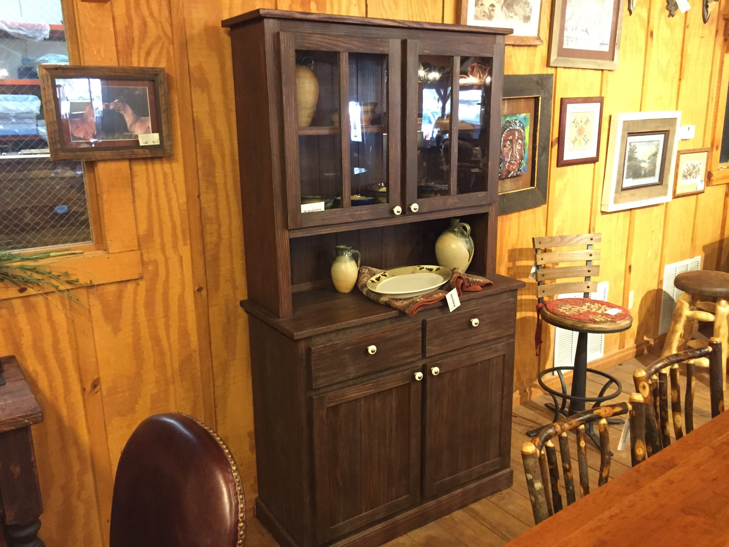 Yellow Pine Hutch and Buffet