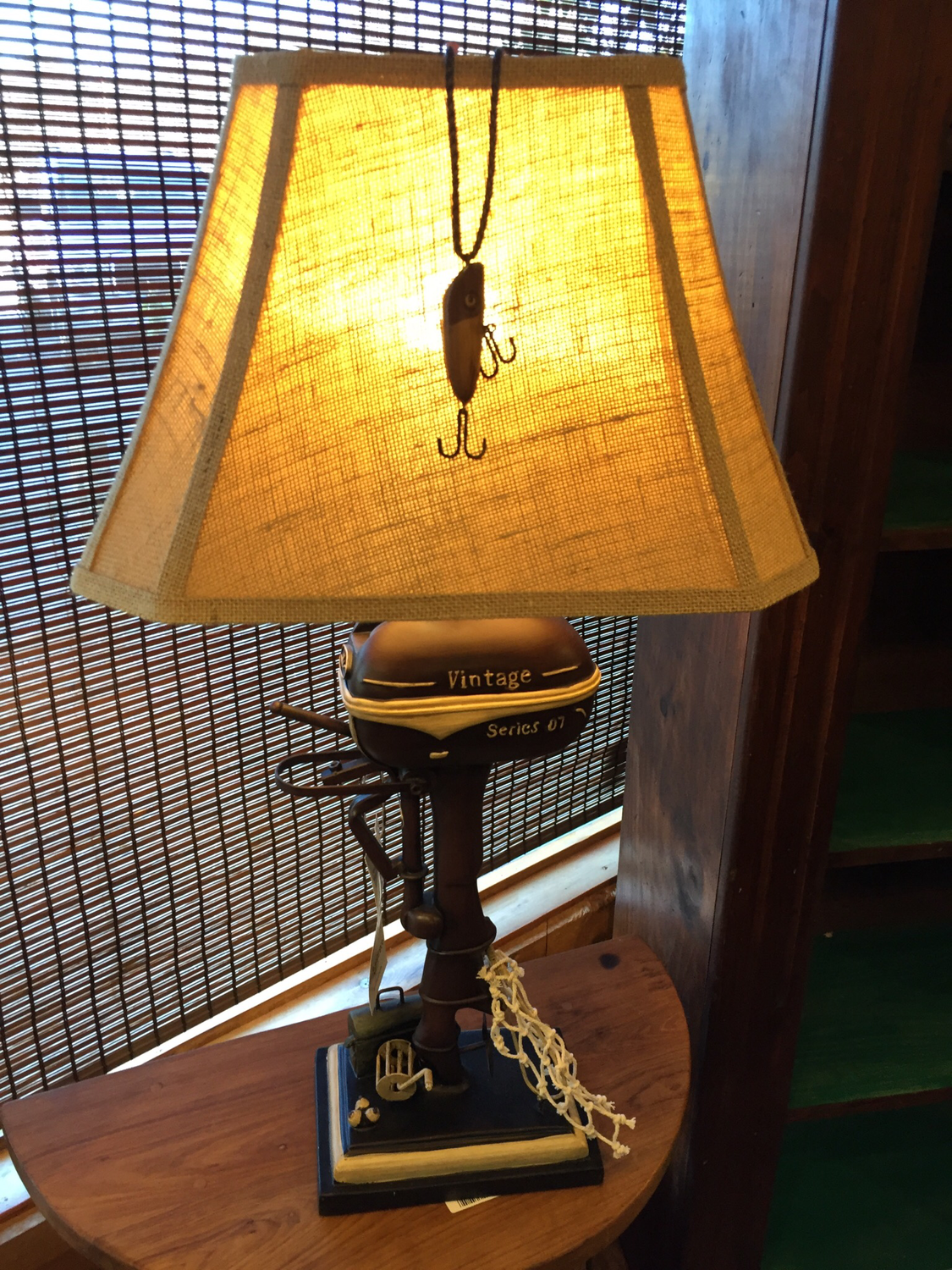"32"" Vintage Boat Motor Table Lamp"