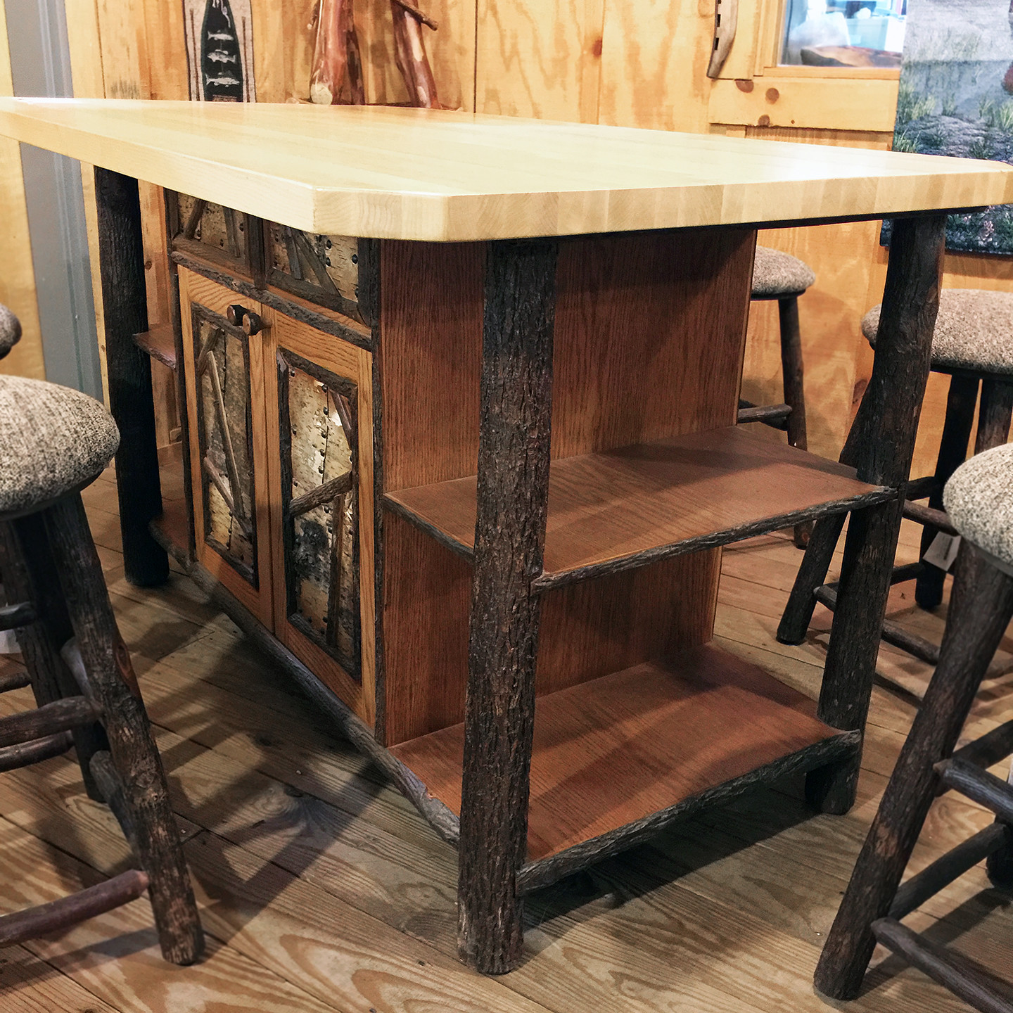 "Old Hickory 60"" Kitchen Island"