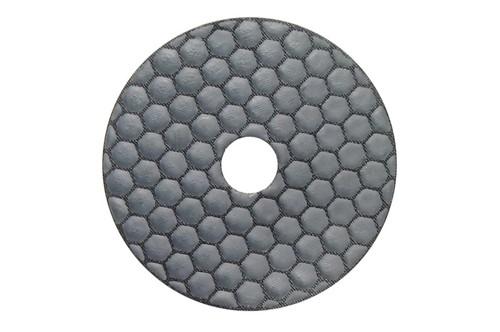 "Gluide Dry 4"" Diamond Polishing Pad Black Buff"