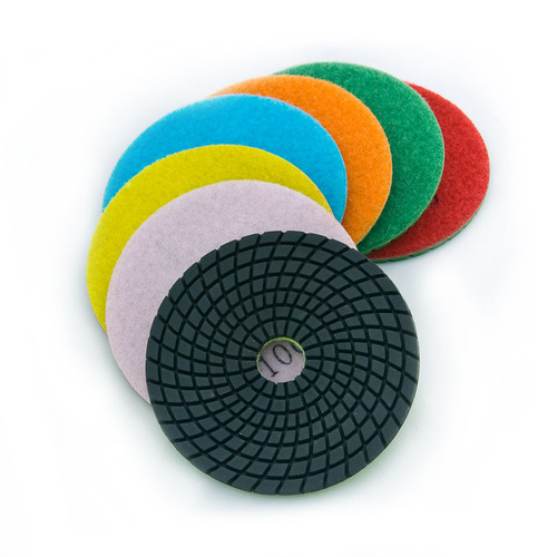 "EA 4"" Standard Polishing Pads All Seven Kit"