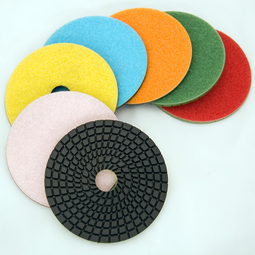 "E Series 4"" Wet Polishing Disc Buffing White"