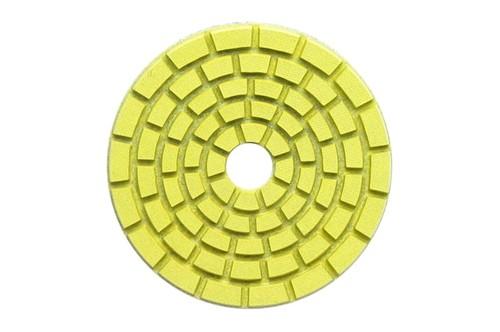 "E Series 5"" Wet Polishing Disc 100 Grit Yellow"