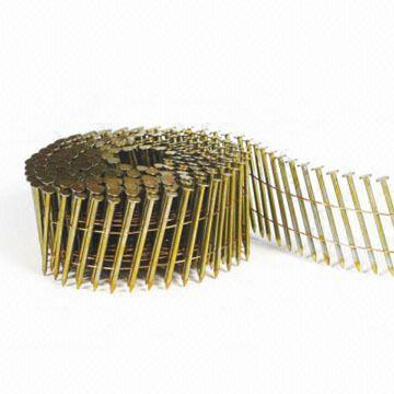 "Hitachi 2-1/4""x.092 Ring Shank13325 HotGal Plas Coil Siding Nail"